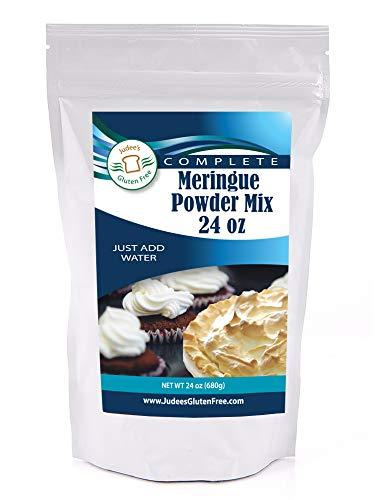- Judee's Meringue Powder Mix (24 Oz): No Preservatives: ideal for Cookies, Pies, and Frosting: Made in the USA in a Dedicated Gluten and Nut Free Facility: Complete Mix Just Add Water