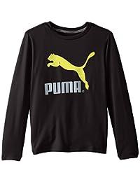 PUMA Baby Boys' Core Long Sleeve Logo Tee