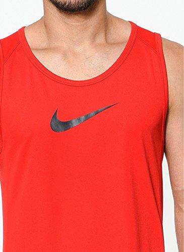 Nike Dri-FIT Swoosh Logo Basketball Top (University Red/Black, S)