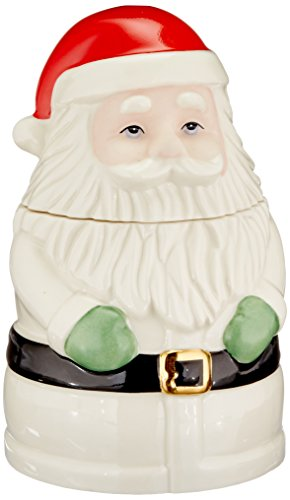 Lenox Santa Treat Jar, Ivory