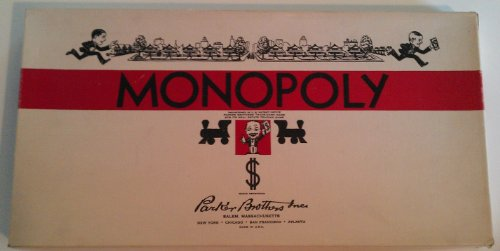 1975 Copyright MONOPOLY Board Game Model No. 9 by Parker Brothers from Parker Brothers
