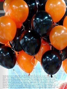 10'' Halloween Black and Orange Balloons for Party Decoration 100pcs by Seven YJ. for $<!--$9.99-->
