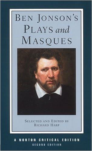 amazon com ben jonson s plays and masques second edition norton