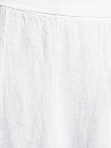 Blanc Lin Jupe avantageuse Ceinture RO014 en en avec Caspar Stretch SCpgqwnz