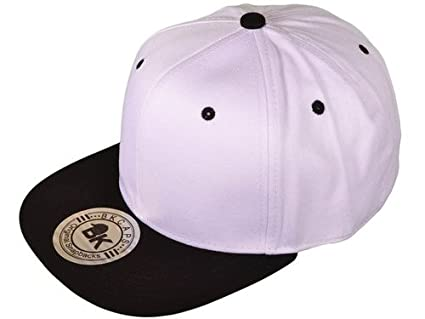 Intionix Shop Cotton Flat Bill Blank plain Snapback Hats w  Green Under Bill  ( ce7ca36dc91
