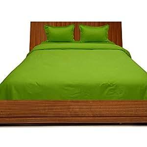 Brightlinen Parrot Green Double (135 X 190 Cm) Duvet Set Solid 3pcs