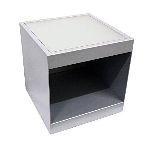 Spa Trolley / Portable Side Table w/ Glass Top & Shelf (Salon Storage Solutions)