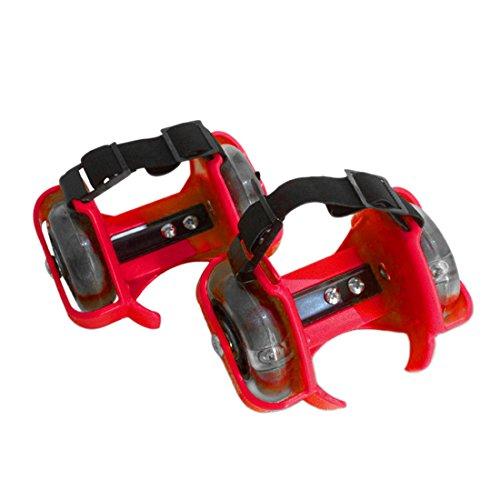 Qianle - Zapatillas de skateboarding de Material Sintético para hombre Red