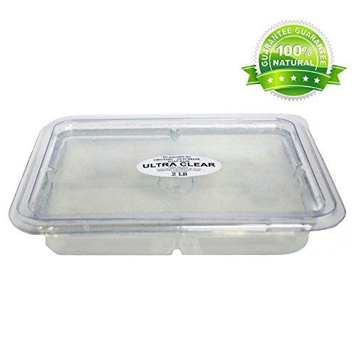 2 Lb Tray CLEAR Glycerin Melt & Pour Soap Base Organic
