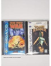 RNR 10PCS Sega CD / Sega Saturn / PS1 Long Box Protector | Clear Plastic | Acid-Free PET 0.3mm |