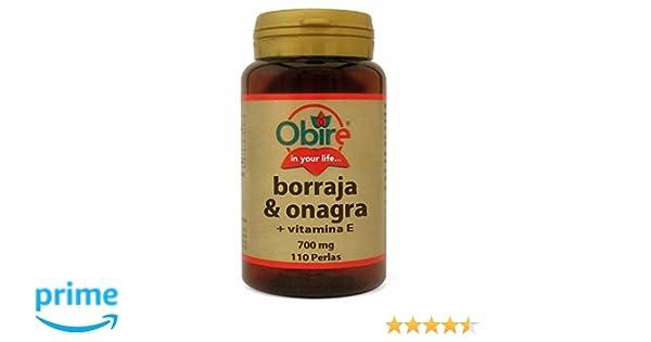 Borraja & onagra 500 mg. 110 perlas con vitamina E