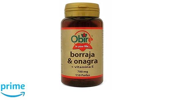 Borraja & onagra 500 mg. 110 perlas con vitamina E: Amazon.es: Salud y cuidado personal
