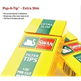 Swan 600 Extra Slim Filter Tips, Yellow by Swan