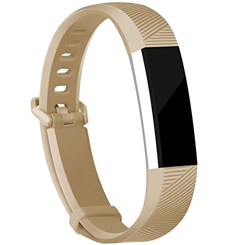 iGK Replacement Bands Compatible for Fitbit Alta and Fitbit Alta HR, Newest Adjustable Sport Strap Smartwatch Fitness Wristbands Champagne Large