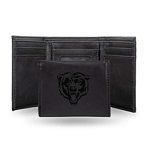 - Rico Industries NFL Chicago Bears Laser Engraved Tri-Fold Wallet, Black