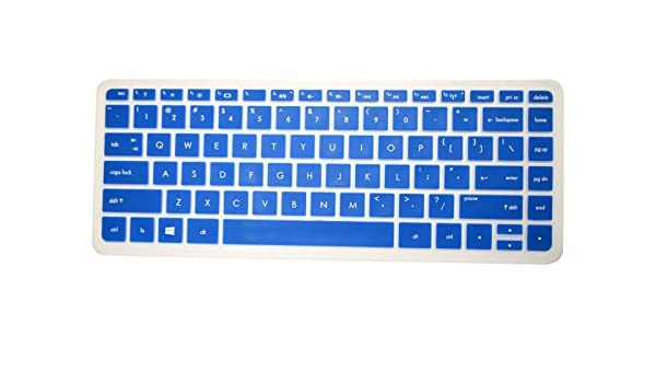 Please Compare Keyboard Layout and Model PcProfessional Blue Ultra Thin Silicone Gel Keyboard Cover for HP Stream 13 13.3 Laptop with Application Kit
