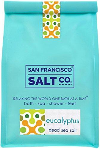 Dead Sea Mineral Bath Salt Variety 3 Pack: Pure Dead Sea Salt, Lavender Dead Sea Salt and Eucalyptus Dead Sea Salt (1.75lb bag of each)