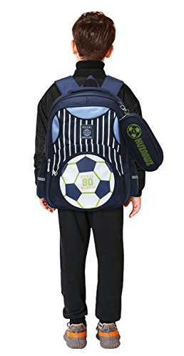Mysticbags Boys Backpack Soccer Printed Kids School Bookbag for Primary  Students Dark Blue. dark blue 36705ece3b