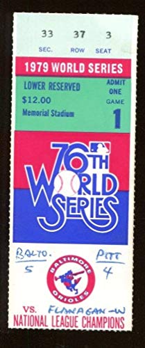 1979 World Series Game 1 Ticket Orioles v Pirates Willie Stargell HR 43569
