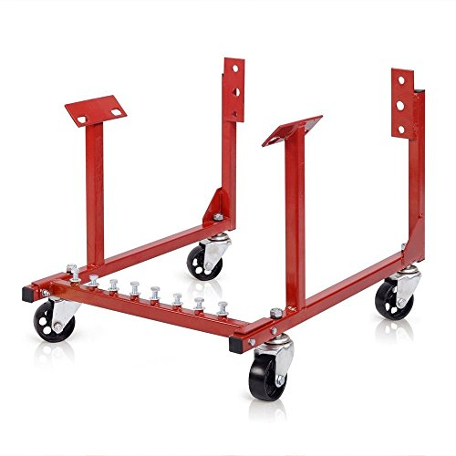 1000lb Auto Engine Cradle Stand w/Dolly Wheels for Chevrolet Chevy