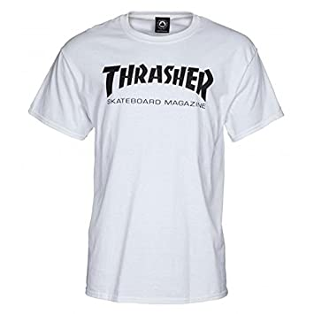 """Camiseta blanca """"Thrasher Skateboard Magazine"""", ..."""