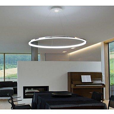 Luz de techo moderna simple anillo LED Colgante Diseño Mini: Amazon ...