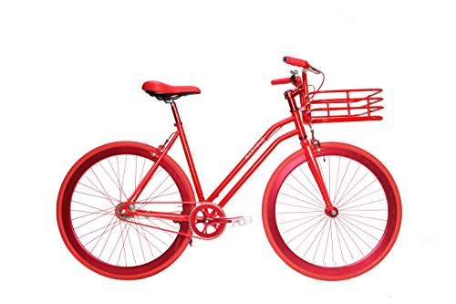 Martone Cycling Women's Gramercy Bicycle, Red, 44cm/One Size