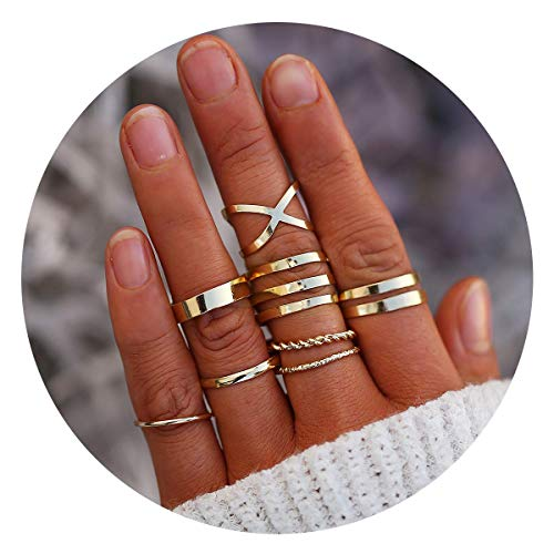 FINETOO Knuckle Vintage Stackable Jewelry product image