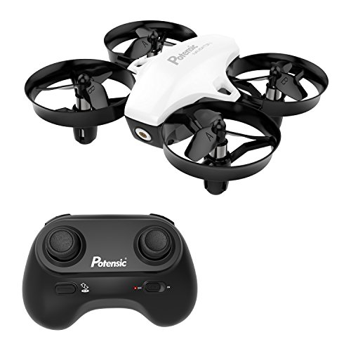 Mini Drone, Potensic A20 Altitude Hold Quadcopter Drone 2.4G 6 Axis Headless Mode Remote Control Nano Quadcopter for Beginners - White