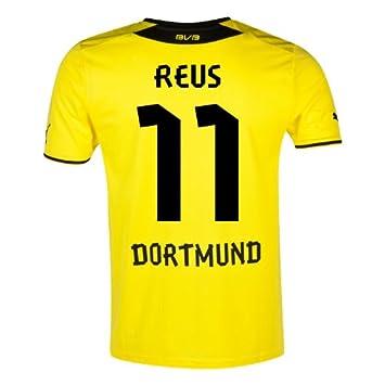 Puma – Camiseta de fútbol para hombre con Logo del patrocinador Borussia Dortmund Home Blazing Amarillo
