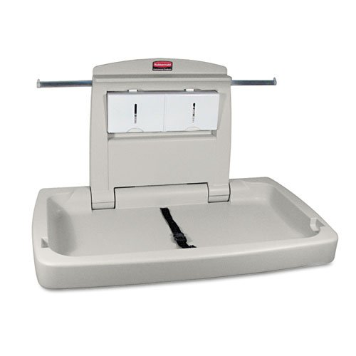 Rubbermaid Commercial Sturdy Station 2 Baby Changing Table, Platinum - one baby changing table.