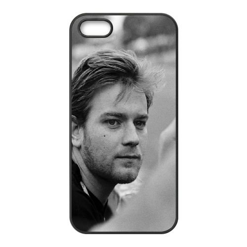 Ewan Mcgregor Face Celebrity Actor Black White coque iPhone 5 5S cellulaire cas coque de téléphone cas téléphone cellulaire noir couvercle EOKXLLNCD23601