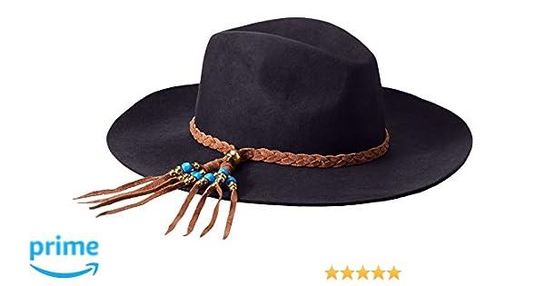 90dbe75fe 'ale by alessandra Women's Gaucho Adjustable Floppy Felt Hat with Suede Trim