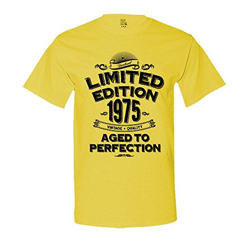 1975 Limited Edition 42nd Birthday T-Shirt Vintage Aged To Perfection T-Shirt 4XL Yellow