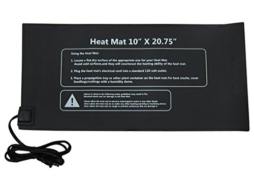 Yield Lab Seed and Clone Heat Mat – 20.75 x 10 Inch – Hydroponic, Aeroponic, Horticulture Growing Equipment (20.75 x 10 Inch Heat Mat) by Yield Lab