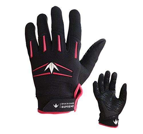 Bunker Kings Supreme Full Finger Paintball Gloves - Red - Small / - Paintball Hopper Red