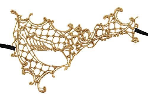 Phantom of The Opera Half Face Masks (Gold Lace -
