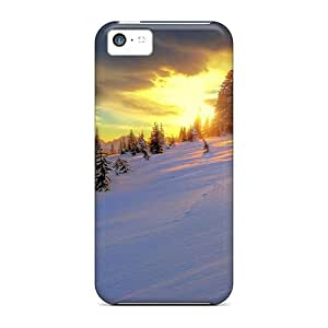 For Iphone 5c Protector Case Beautiful Mountain Winterscape Phone Cover by icecream design