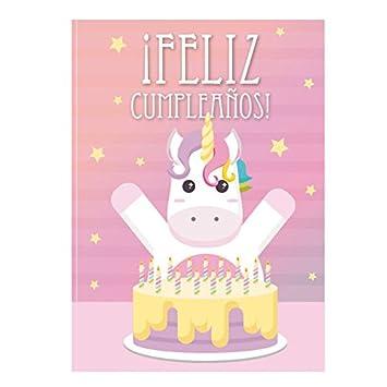 TARJETA Cumple Unicornio: Amazon.es: Juguetes y juegos