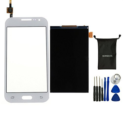 Lcd Lens Display - Sunway Touch Digitizer Glass Lens Screen Replacement(White) + LCD Display Digitizer Screen Replacement For Samsung Galaxy Core Prime G360 G360H G360V G360F Prevail G3608 With device opening tools