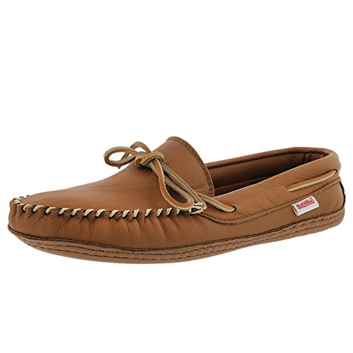 SoftMoc Men's 3000 Double Sole Deerskin Leather Lined Moccasin Camel 12 M US - Deerskin Moccasin