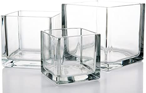 Richland Square Glass Cube Vase Set of 36