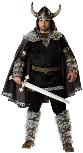 [Viking Warrior Costume - XXX-Large - Chest Size 54-56] (Barbarian Warrior Costume)