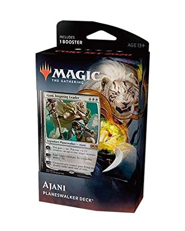 Best Yugioh Deck 2020.Magic The Gathering Mtg Core Set 2020 Planeswalker Deck Ajani W Booster Pack White