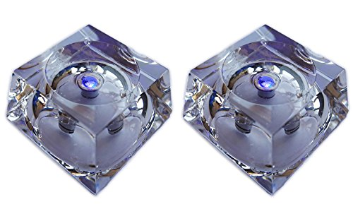 Actopus 2PCS Glass Display Stand Base with Light for 80mm Crystal Ball ()
