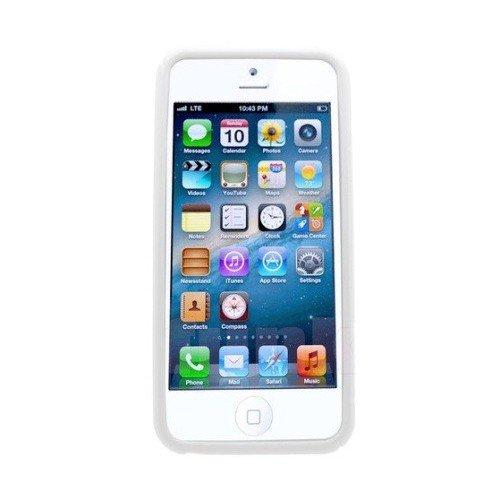 Hülle für Apple iPhone 5 Cover Case Handyhülle S-Line aus weichem Silikon in Weiss