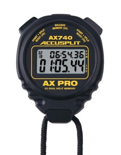 50 Lap Memory Stopwatch (ACCUSPLIT AX740 PRO MEMORY (50) DUAL LINE STOPWATCH)