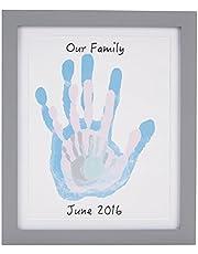 مجموعة لاخذ بصمة قدم ويد الاطفال حديثي الولادة مع اطار صورة من بيرهيد