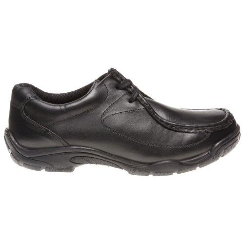 d97a1cfe Hush Puppies - Zapatos de cordones de cuero para niño negro negro 80% OFF