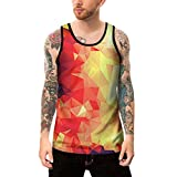 Allywit-Mens Casual 3D Printed Pattern Tank Top Sleeveless Graphics Tees Plus Size